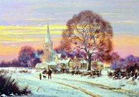 Arthur Lokie (1948- ) British. A Winter Scene, With