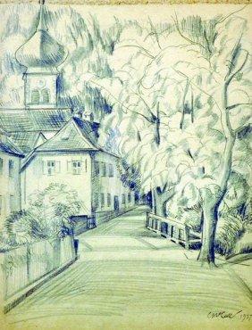 Charles Mccall (1907-1989) British. 'church In The