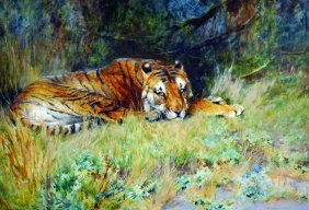Arthur Wardle (1864-1949) British. 'midday Rest', With