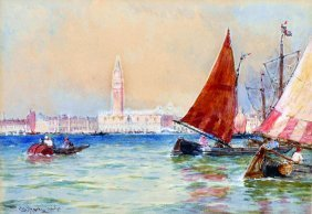 Thomas Bush Hardy (1842-1897) British. A Venetian