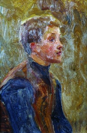 20th Century English School. The Head Of A Boy, In The
