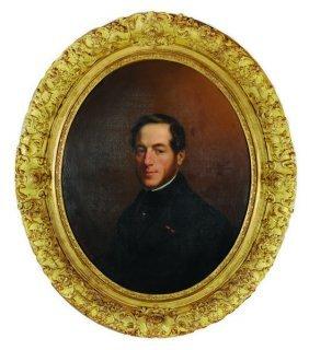 Horacio De Manara (1804- ) Italian. Portrait Of The