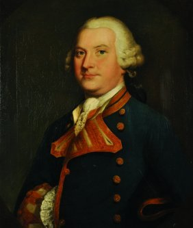 Attributed To Thomas Hudson. Portrait Of A Naval