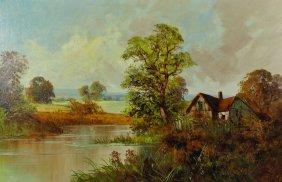 Frank E Jamieson (1834-1899) British. A River Landscape