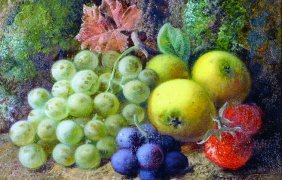 Vincent Clare (1855-1930) British. Still Life Of Fruit