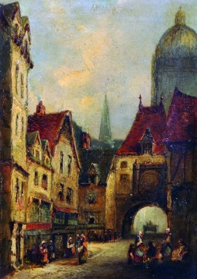 Lewis John Wood (1813-1901) British. 'the Old Clock