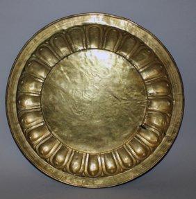 An Unusual Large 17th/18th Century Sino-tibetan Gilt