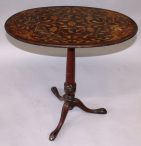36. An 18th Century Design Dutch Walnut And Marquetry