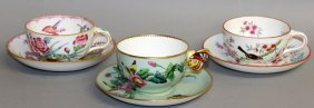 94. A Minton Butterfly Handled Tea Cup And Saucer