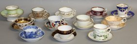 124. Twelve 19th Century Cups And Saucers From New