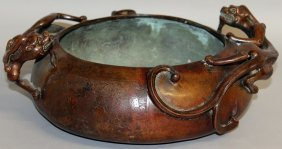 222. A Good Large Chinese Bronze Circular Censer, The