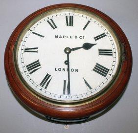 282. A Good Mahogany Cased 10-inch Wall Clock With
