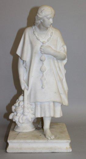 448. John J. Gaynard A Carved White Marble Statuette