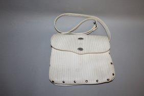 529. A White Fendi Bag.