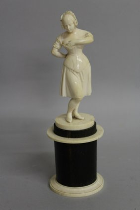 600. A Good 19th Century European Ivory Figure Of A