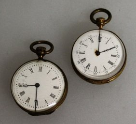 647. Two Small Victorian Watch Purses With Gold And