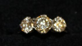 697. A Lovely Three Stone Diamond Ring Of Approx.