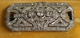 718. A Superb Art Deco Diamond And Platinum Brooch.