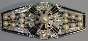 865. A Superb Large Art Deco Design Sapphire, Diamond