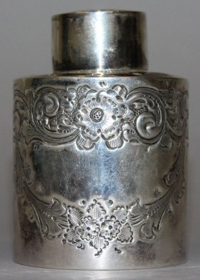 930. A Victorian Circular Tea Caddy And Cover With