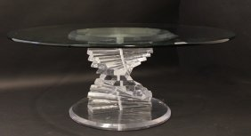 Lucite Helix Coffee Table