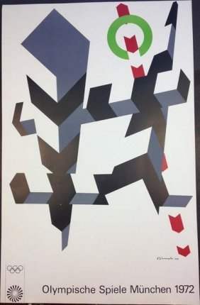 Olympic Games Poster Munich 1972 By Josef Albers