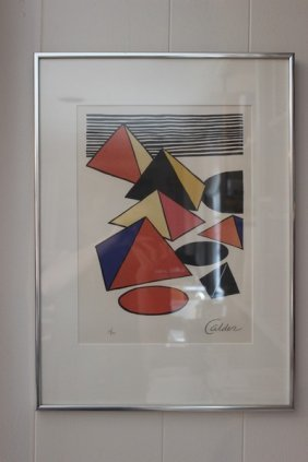 Calder Pyramid Print Signed And Numbered