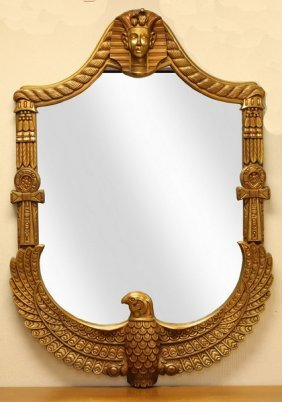 Egyptian King Tut Gold Mirror