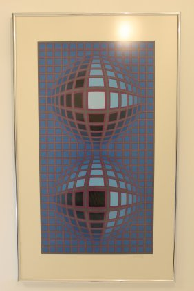 """torony Iii"" By Victor Vasarely"