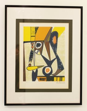Leo Russell Signed & Framed Abstract Print