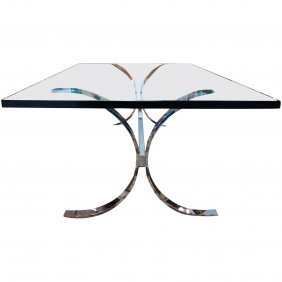 Milo Baughman For Thayer Coggin Chrome Coffee Table