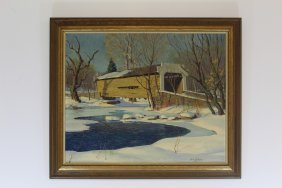Untitled Oil On Board Signed John R. Peirce