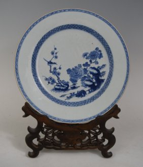 Chinese Qing Kangxi Wucai Porcelain Charger With Stand