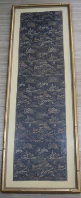 Antique Chinese Silk Brocade Kesi Embroidery