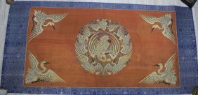 Chinese Qing Kesi Phoenix Silk Panel