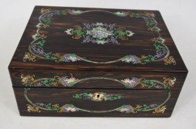 19th Century Encrusted Mother Of Pearl Wooden