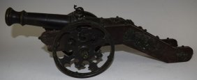 19th Century Bronze Signal Cannon Sailing Ship