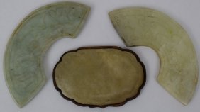 Lot Of Three Jade Objects
