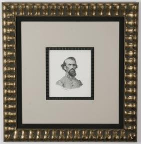 John Paul Strain Signed, Dated Confederate Portrait