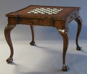 Chippendale-style Mahogany Game Table