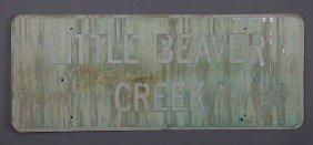 Original 'Little Beaver Creek' Highway Sign