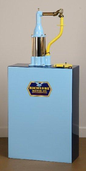 Vintage Richlube Hand Cranked Oil Dispenser