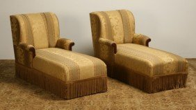 Pair Of English Chaises