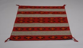 Early To Mid 20th C. Navajo Banded Rug