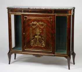 19th C. English Regency Brass Inlaid Cabinet