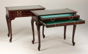 Pair Of English Mahogany Display Tables
