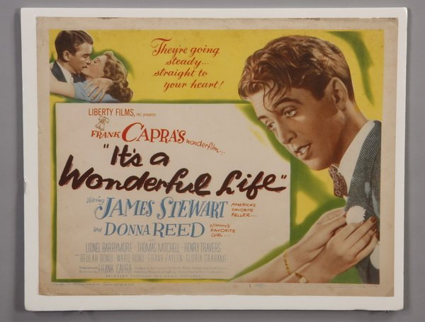 Original It 39 S A Wonderful Life Movie Poster Lot 102