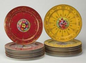 "(20) Royal Worcester Cabinet Plates, 10,25"""