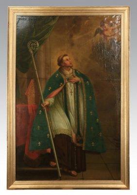 """19th C. O/c Of St. Bonaventure, 125""""h"""