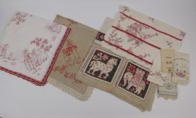 (9) Vintage Embroidered Table Linens